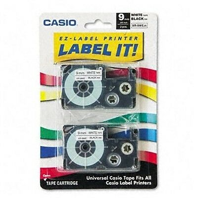 Casio XR-9WE2S 9mm Labeling Tape Black on White