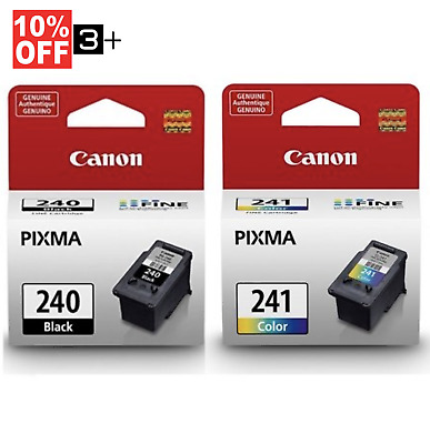 Genuine Canon Ink Cartridges PG-240 & CL-241 Bulk Package MG3620 MG3520 TS5120