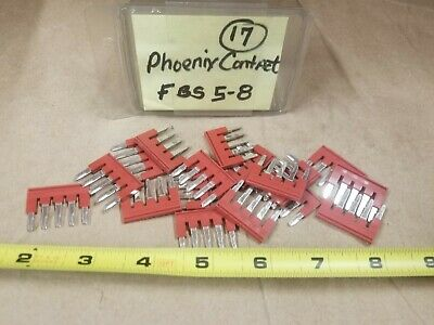 Phoenix Contact FBS 5-8 Terminal Block Lot of 17 Red