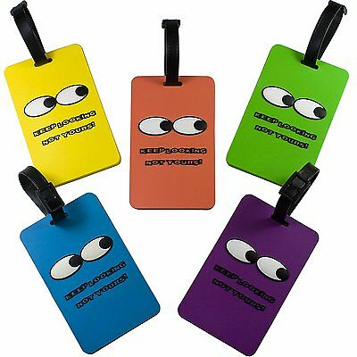 Oliveland Keep Looking Not Yours Set of 5 Soft Luggage Tags Luggage Tag