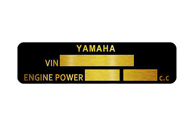 Yamaha Motorcycle YZR YZF MT R1 R6  data plate quality vin-tage new 80x20mm
