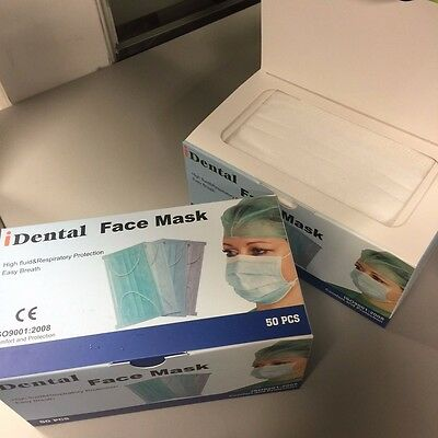 Ear Loop Procedure Medical Surgical Face Mask (White) (1 Box of 50)