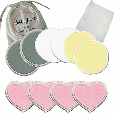 EarthyPads 10 Piece Pack Bamboo Washable Nursing Pads Reusable, Breast Pads
