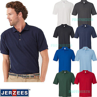 7bbabad7 JERZEES EASY CARE Double Mesh Ringspun Pique Polo Sport Shirt - 443M ...