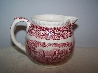 Beautiful Masons / Mason's Pink / Red Vista  4 1/4'' Hydra Jug / Pitcher Creamer