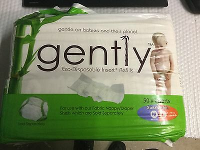 New Gently Eco Disposable Inserts Refills Medium Large  Boy Girl