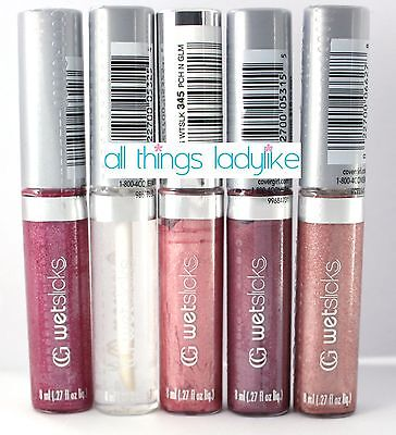 COVERGIRL Lipgloss x 5 pack 310 345 360 425 450 Wetslicks CANDY BERRY PEACHES