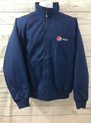 Pepsi Cola Aramark Coat Delivery Driver Work Uniform Lined Jacket Coat Large
