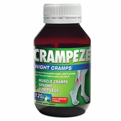 Crampeze Night Cramps 120 Capsules For Muscle Cramps Spasms Tired Legs