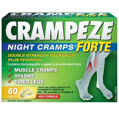 * Crampeze Night Cramps Forte 60 Tablets For Muscle Cramps Spasms Tired Legs