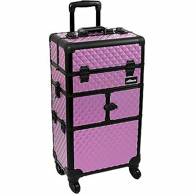 SUNRISE Makeup Rolling Case 2 in 1 I3764 Professional Hair Stylist, 8 Trays, 4