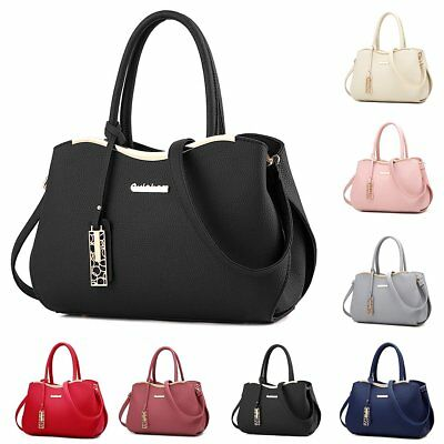 Fashion Women PU Leather Tote Handbag Shoulder Crossbody Hobo Messenger Satchel