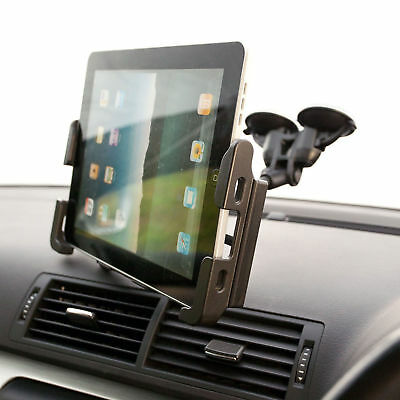 Dual Suction Car Windscreen Mount + Tablet Holder for Samsung Galaxy Tab 3 8