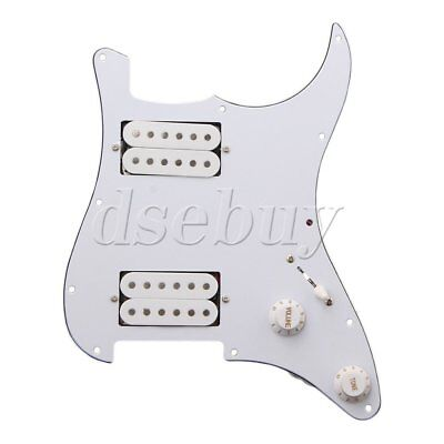 3PLY White Loaded pickguard HH For Humbuckers Guitar