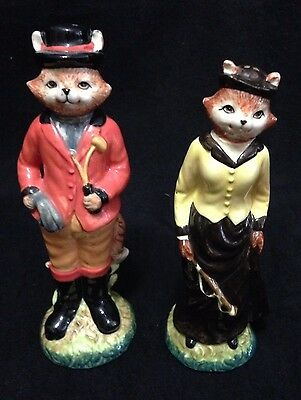 Fox Hunting Foxhunting Lord Lady Salt & Pepper Shakers Winterthur Museum