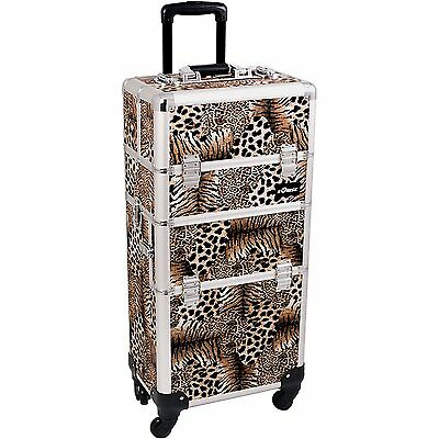 SUNRISE Makeup Case on Wheels 2 in 1 I3561 Hair Stylist Professional, 3 Trays 1