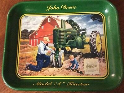 "John Deere Model ""A"" Pint Sized Shadow Metal Tray~2001~Made In USA"