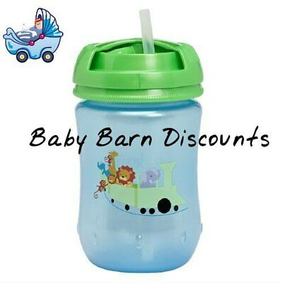 NEW Dr Brown's Straw Cup 270ml - Blue from Baby Barn Discounts