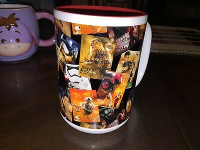 DISNEY PARKS STAR WARS THE FORCE AWAKENS CERAMIC COFFEE MUG 12oz CUP -NEW!