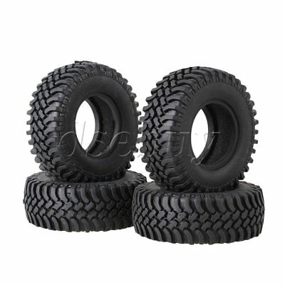 4pcs 100mm OD Rubber Tire with Sponge Insert for RC1:10 Climbing Rock Crawler