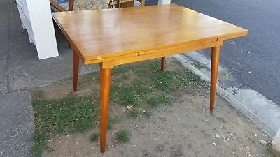 Vintage Featherstone Style Era Extendable Dining Table Australian Made