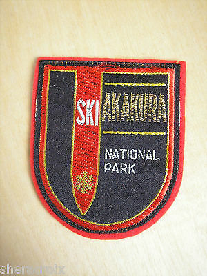 Vintage Akakura Japan Ski Resort Patch Travel Souvenir
