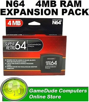 Retro-bit N64 Super Retro64 Expansion Pak 060113 0521964 (892044001354) [03]