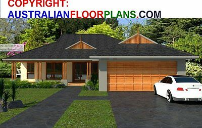 4 Bedrooms/ Rumpus Room/ Cheap Family Home / Construction Plans For Sale / DIY