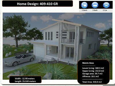 4 Bedrooms / 2 Storey Home/ Home Office / Construction Plans For Sale / Kit home