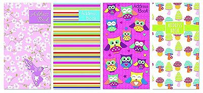 Tallon Address books Slim Address Book - Assorted Colours, Single or Pack of 4