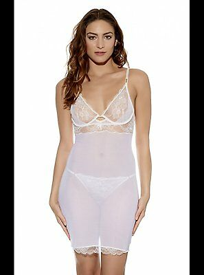 Wacoal Marquise Cream Chemise / Slip / Nightie Size Uk S / Au 10 New