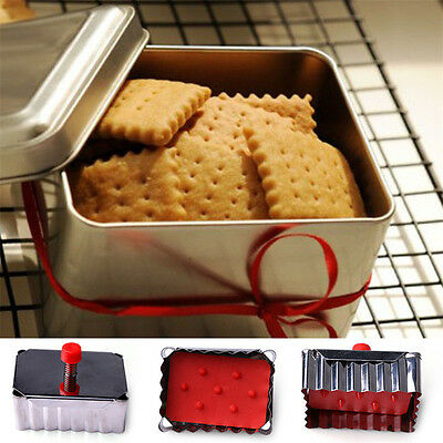New Classical Shape Cookie Mold Cutter Stainless Steel Spring Press Fondant Tool