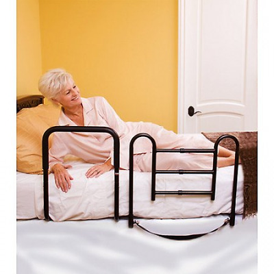 2 in 1 Bed Safety Rail And Support Bar Side Rails Assist Handle Adjustable New