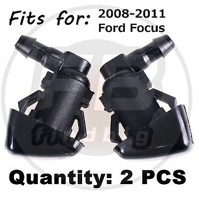 2x Windshield Wiper Water Spray Jet Washer Nozzle for 2008-2011 Ford Focus