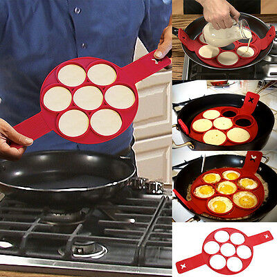 1PC Non Stick Flippin' Fantastic Nonstick Pancake Maker Egg Ring Maker Kitchen