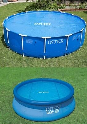 Intex Swimming Pool Solar Cover 15ft Heats Water Helps Keep Debris Out