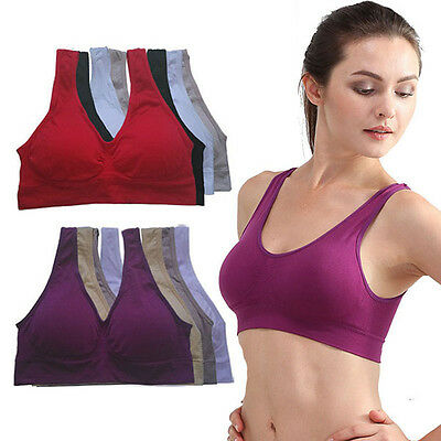 Seamless Ladies Soft Comfort Sports Bra Shapewear Stretch Short Crop Top Vest