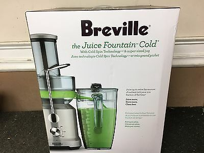 Breville The Juice Fountain Cold BJE430SIL 850W 70 Fl Oz Electric Juicer