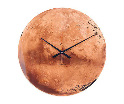 Karlsson Wall Clock Mars in Copper Mirrored Finish