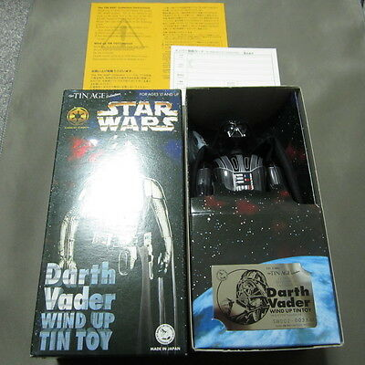 Rare Star Wars Darth Vader Tin Toy Figure Osaka Tin Toy  Made in Japan 1997 F/S