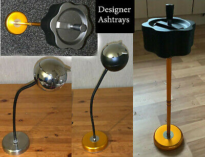 50cm Tall Designer Flexible Ashtray Extendable Bendable With Lid Stainless Steel