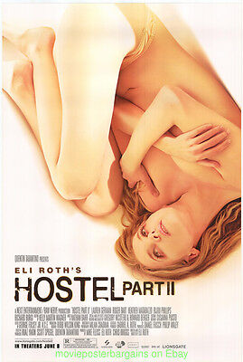 Hostel 2 Movie Poster Poster Eli Roth Ultra Rare Recalled Too Nude !! Style