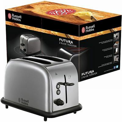Russell Hobbs Futura 2 Slice Bread Toaster Home Kitchen - Stainless Steel Silver