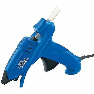 Draper Stormforce 100w 240v Electric Hot Melt Trigger Glue Gun + Adhesive Sticks