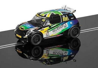 C3606 Scalextric Slot Car BMW MINI Cooper S - Chris Knox Challenger 2014 No 888
