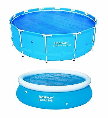 Bestway SOLAR COVER SWIMMING POOL 8FT 10FT 12FT HEATS THE WATER KEEPS DEBRIS OUT