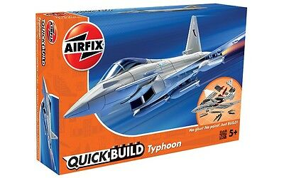 J6002 Airfix Quick Build Eurofighter Typhoon Model Plane Snap Together Kit - New