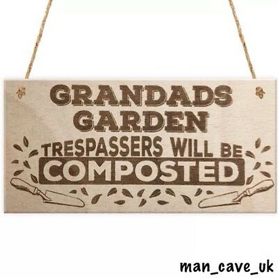 Funny Sign - Wooden Hanging Sign - Plaque - Novelty Gift - Grandad - Man Cave
