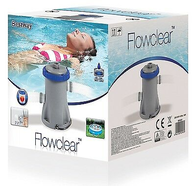 Bestway 330 Or 530 Gallon Swimming Pool Filter Pump Flowclear Water