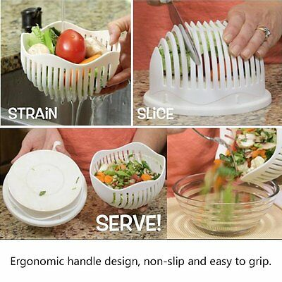 Multi Practical Salad Cutter Bowl Easy Salad Fruit Vegetable Washer And Cutter U